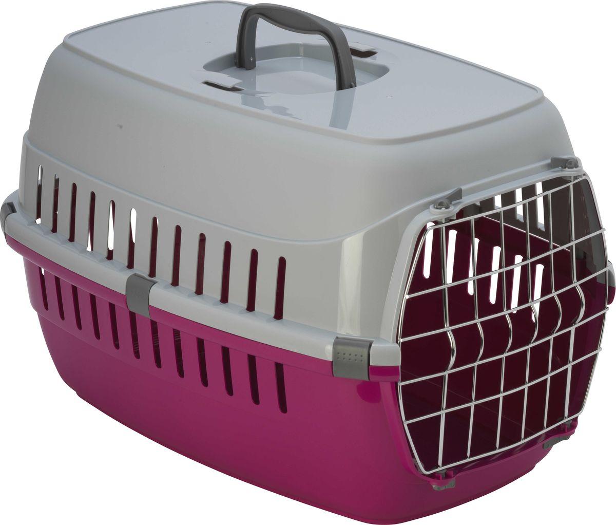 Переноска для животных Moderna  Roadrunner 2 , с металлической дверью, цвет: ярко-розовый, 58 x 35 x 37 см - Переноски, товары для транспортировки