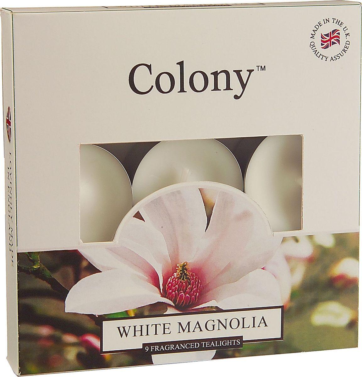 Свеча чайная Wax Lyrical Белая магнолия, ароматическая, 9 штCH0104Набор ароматических чайных свечей Wax Lyrical Белая магнолия. Невероятно богатый,изумительно красивый цветочный букет из белой магнолии, гардении, фрезии, розовой сирени ибутонов розы на основе ароматов персика, сандала, деликатных специй и чувственного мускуса. Как пользоваться свечами? Перед каждым зажжением свечи подрезайте фитиль, его оптимальная высота 5-6 мм;припервом зажигании, дайте поверхности свечи полностью расплавиться; ставьте зажженную свечу на ровную поверхность.