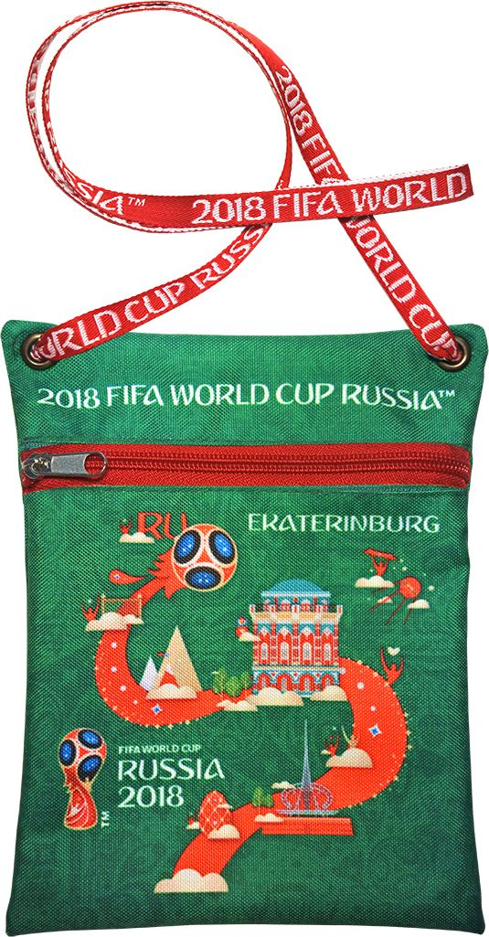 Сумка для документов FIFA Ekaterinburg, цвет: зеленый, 16 х 20 смF-01-EK-GRУдобная сумка с символикой Чемпионата мира по футболу позволит держать документы и ценные вещи под рукой во время матча или в поездке.