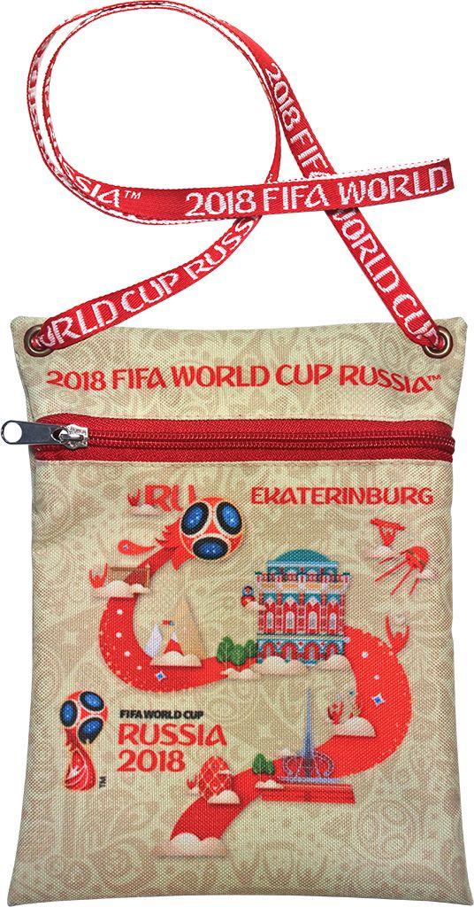 Сумка для документов FIFA Ekaterinburg, цвет: бежевый, 16 х 20 смF-01-EK-IVУдобная сумка с символикой Чемпионата мира по футболу позволит держать документы и ценные вещи под рукой во время матча или в поездке.