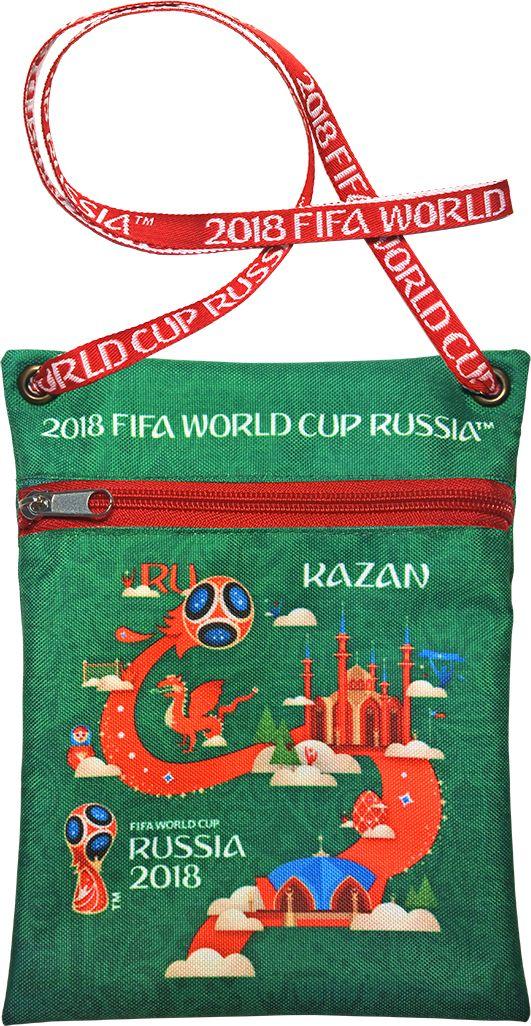 Сумка для документов FIFA Kazan, цвет: зеленый, 16 х 20 смF-01-KZ-GRУдобная сумка с символикой Чемпионата мира по футболу позволит держать документы и ценные вещи под рукой во время матча или в поездке.