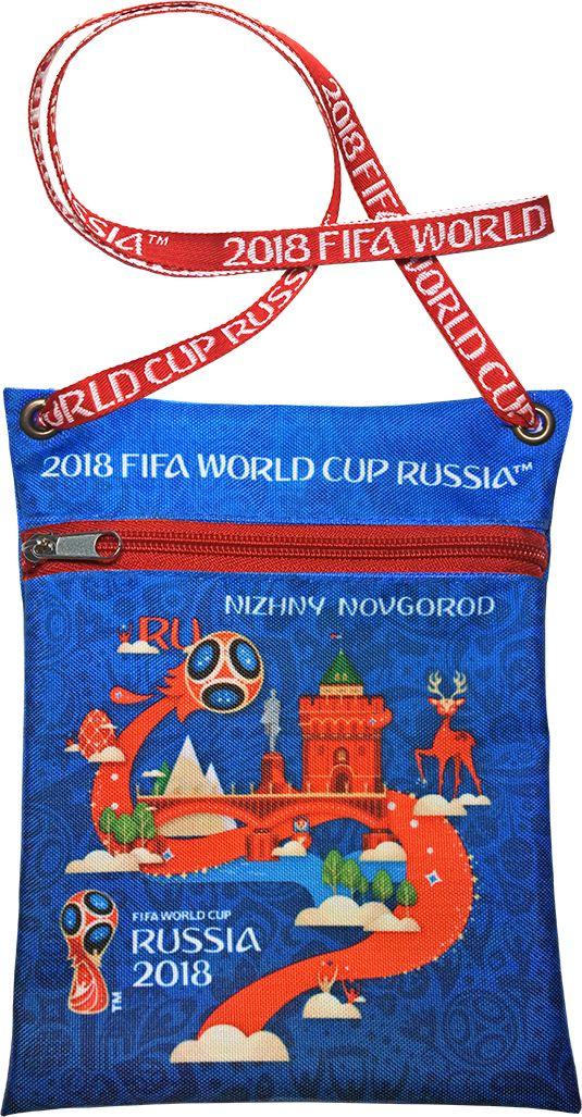 Сумка для документов FIFA Nizhny Novgorod, цвет: синий, 16 х 20 смF-01-NN-BLУдобная сумка с символикой Чемпионата мира по футболу позволит держать документы и ценные вещи под рукой во время матча или в поездке.