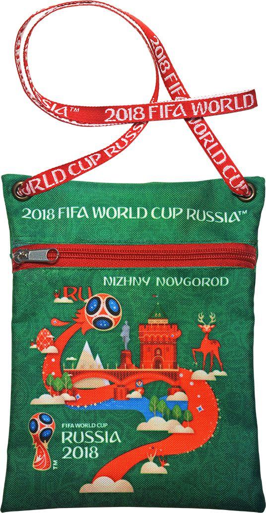Сумка для документов FIFA Nizhny Novgorod, цвет: зеленый, 16 х 20 смF-01-NN-GRУдобная сумка с символикой Чемпионата мира по футболу позволит держать документы и ценные вещи под рукой во время матча или в поездке.