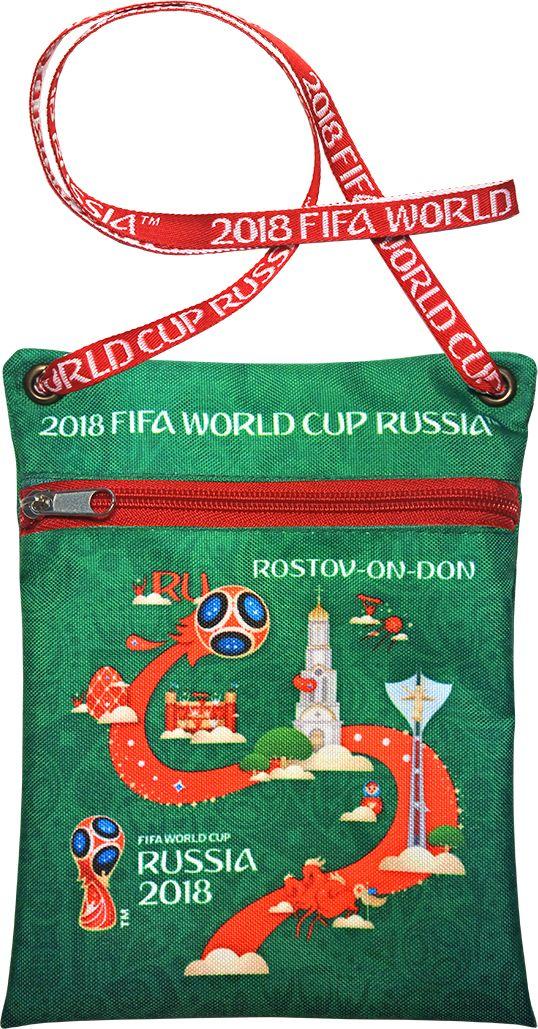 Сумка для документов FIFA Rostov-on-Don, цвет: зеленый, 16 х 20 смF-01-RD-GRУдобная сумка с символикой Чемпионата мира по футболу позволит держать документы и ценные вещи под рукой во время матча или в поездке.