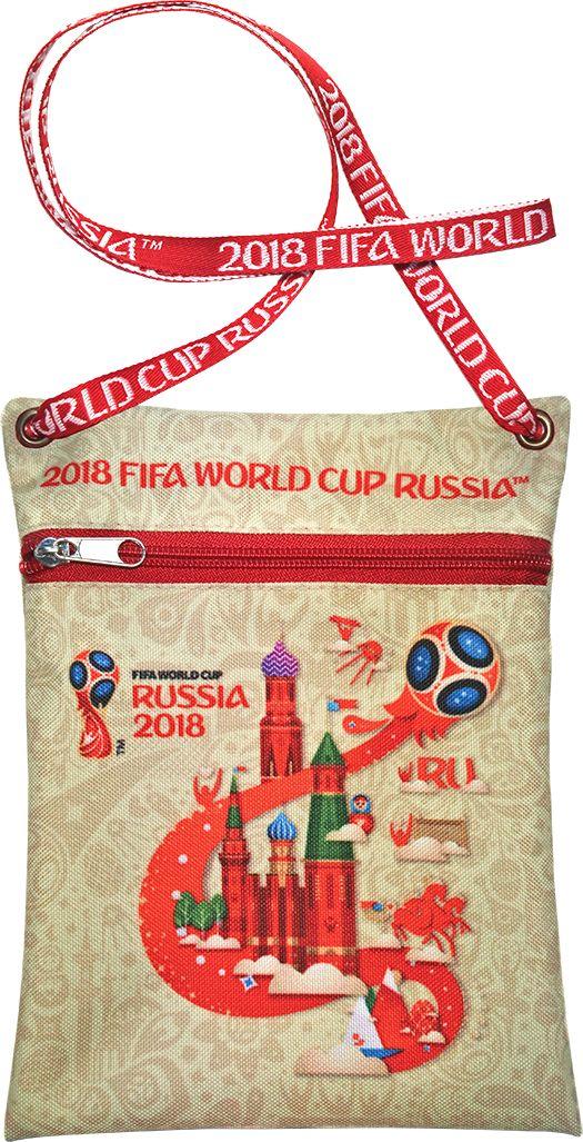 Сумка для документов FIFA Russia 2018, цвет: бежевый, 16 х 20 смF-01-RUS-IVУдобная сумка с символикой Чемпионата мира по футболу позволит держать документы и ценные вещи под рукой во время матча или в поездке.