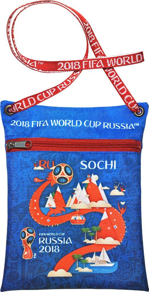 Сумка для документов FIFA Sochi, цвет: синий, 16 х 20 смF-01-SH-BLУдобная сумка с символикой Чемпионата мира по футболу позволит держать документы и ценные вещи под рукой во время матча или в поездке.