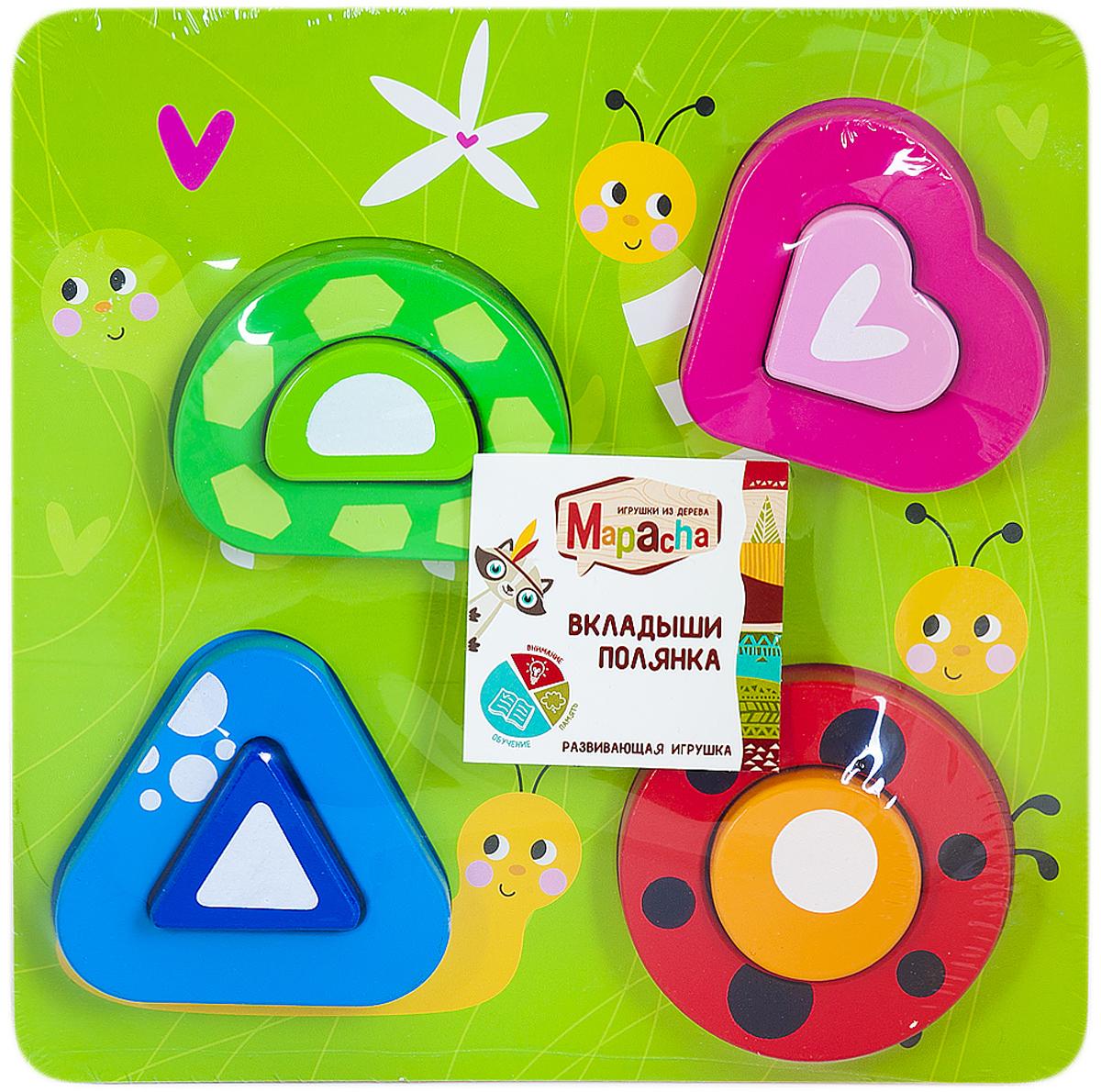 Mapacha Пазл для малышей Вкладыши Полянка суперпредложение набор грибов домашняя полянка из 5 упаковок