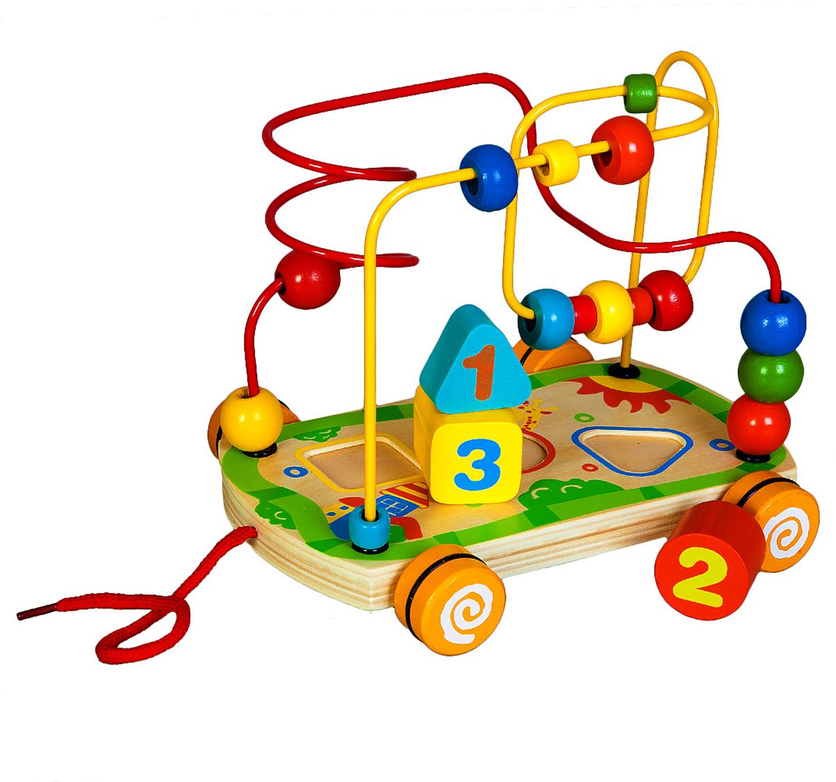 Mapacha Лабиринт-сортер на колесиках деревянные игрушки mapacha сортер каталка машинка