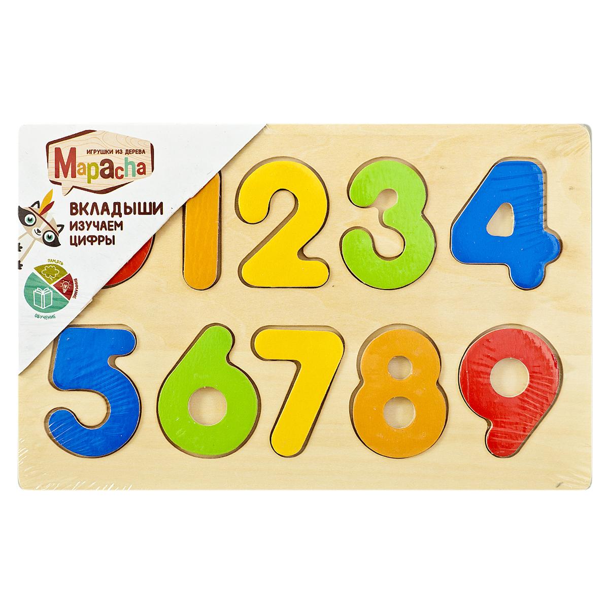 Mapacha Пазл для малышей Вкладыши Изучаем цифры изучаем цифры
