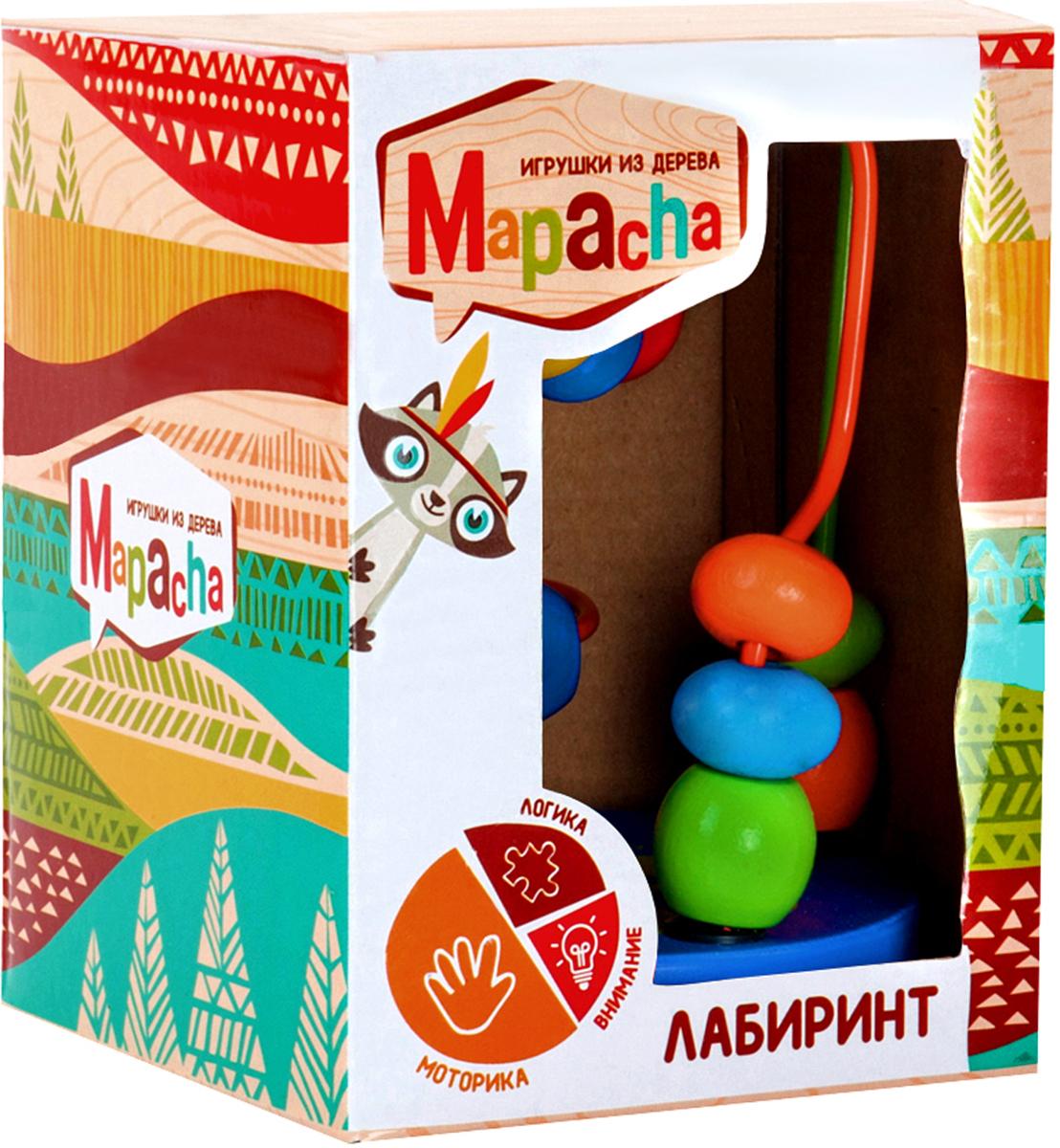Mapacha Лабиринт цвет синий деревянные игрушки mapacha рамка лабиринт кошки мышки