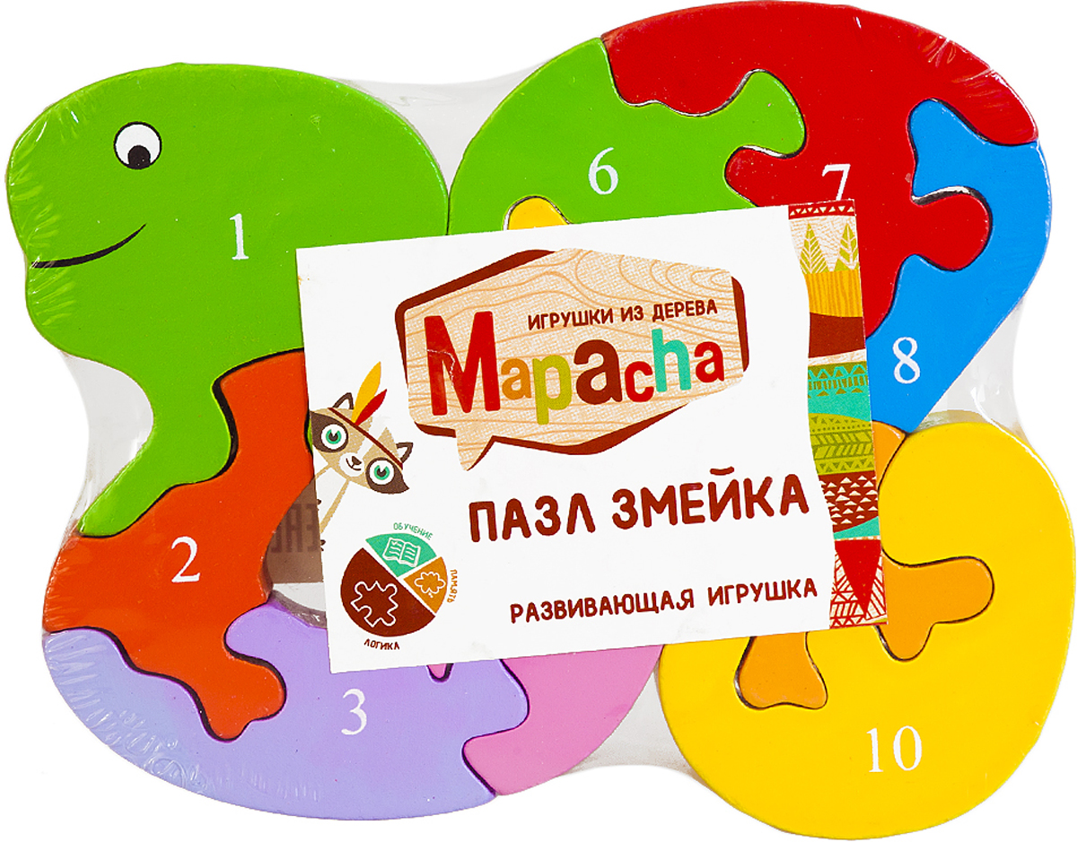 Mapacha Пазл для малышей Змейка флексика пазл для малышей геометрия цвет основы красный