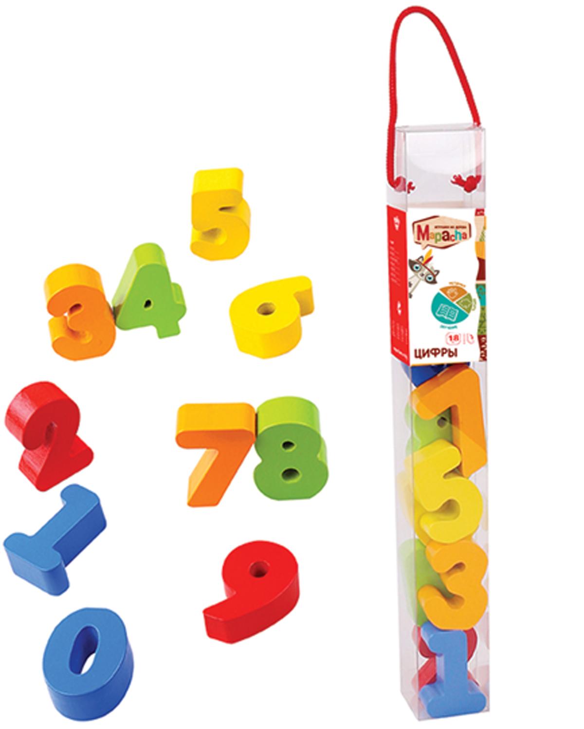 Mapacha Развивающая игра Цифры игрушка деревянная mapacha развивающая игра готовим завтрак