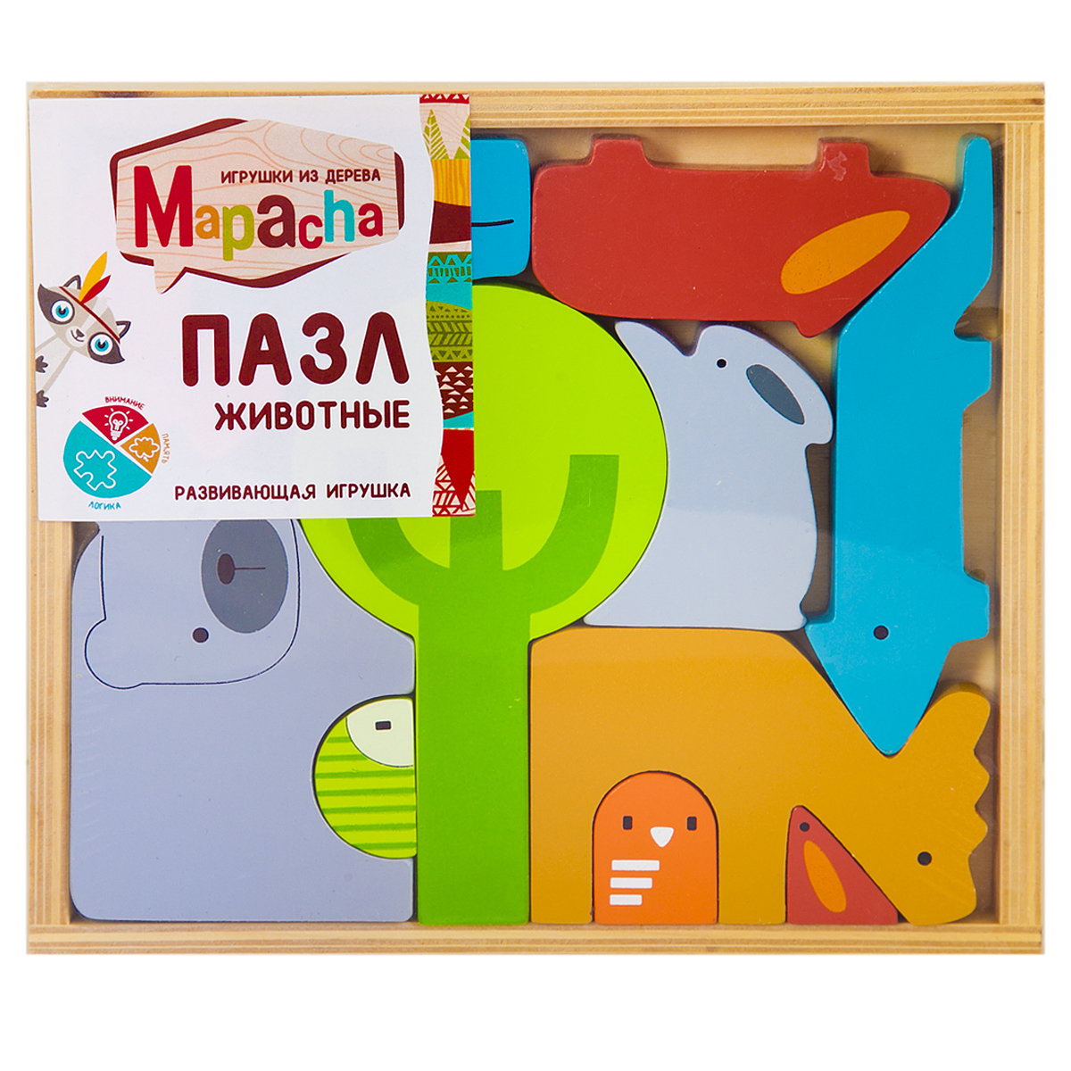 Mapacha Пазл для малышей Животные флексика пазл для малышей геометрия цвет основы красный