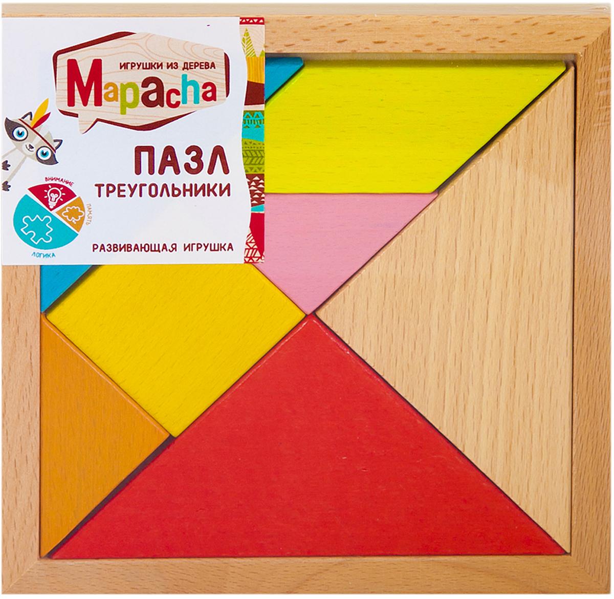Mapacha Пазл для малышей Треугольники флексика пазл для малышей геометрия цвет основы красный