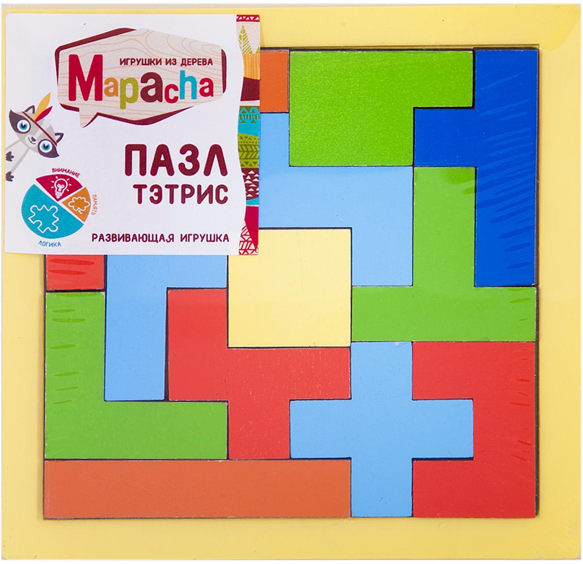 Mapacha Пазл для малышей Тэтрис флексика пазл для малышей геометрия цвет основы красный