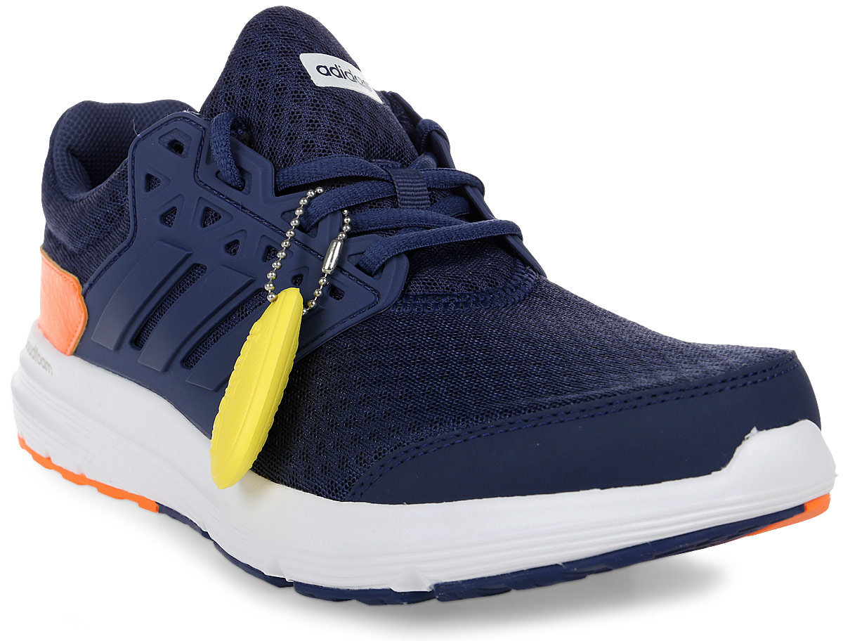 Кроссовки для бега мужские Adidas Galaxy 3 M, цвет: синий, оранжевый. CP8818. Размер 8,5 (41)CP8818Кроссовки для бега Galaxy 3 - это беговые кроссовки с широкой колодкой для комфорта. Проклеенные синтетические вставки обеспечивают дополнительную поддержку, а верх из крупной сетки и дышащая сетчатая подкладка - максимальную вентиляцию. Промежуточная подошва Cloudfoam, созданная для поглощения ударных нагрузок и комфортной посадки без разнашивания, мягко амортизирует каждый шаг. Литой термополиуретановый каркас Fitframe обеспечивает отличную устойчивость пятки. Исключительно износостойкая подошва Adiwear прослужит долгое время.
