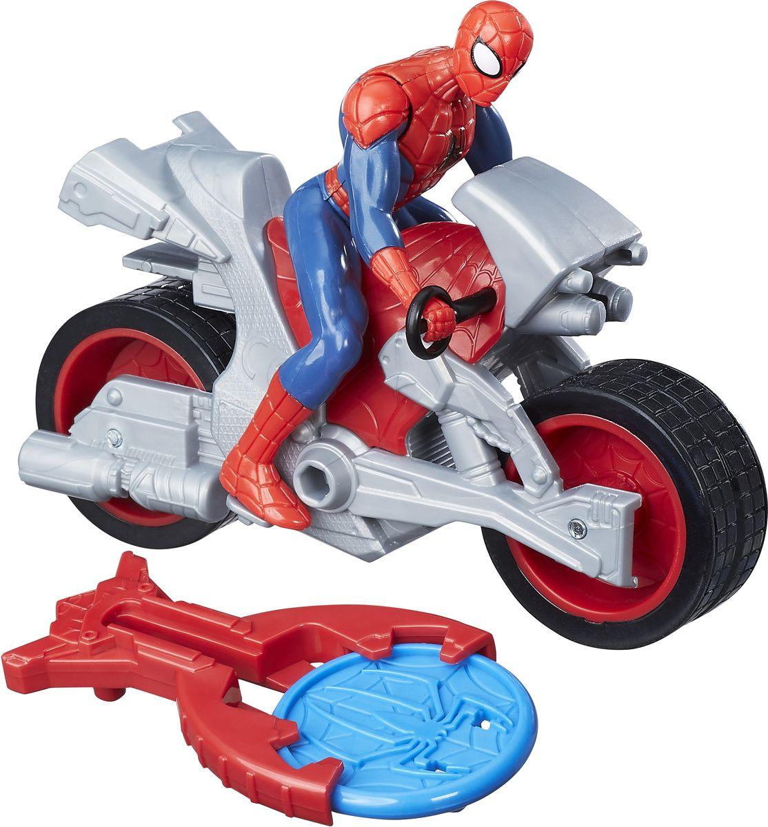 Spider-Man ФигуркаЧеловек-паук на мотоцикле spider man игрушка фигуркачеловек паук и мотоцикл