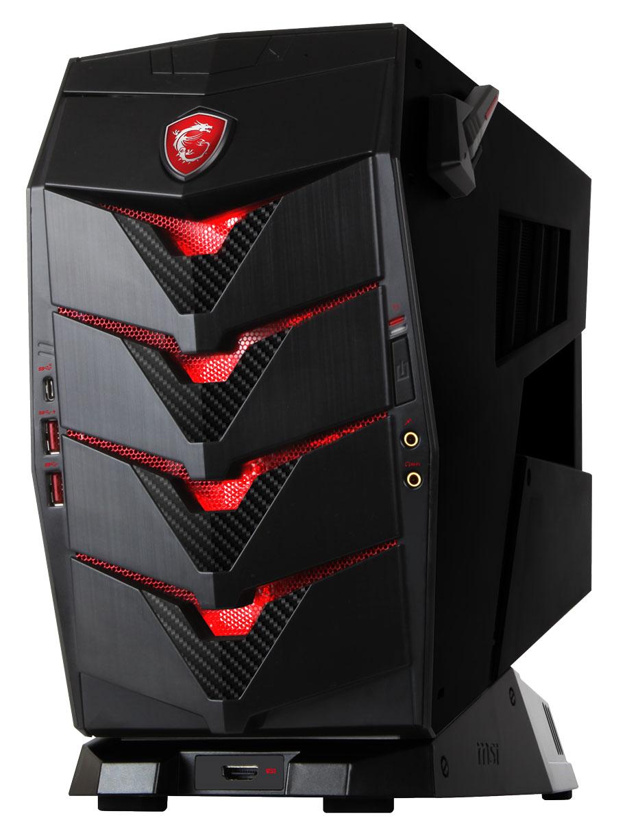 MSI Aegis X3 VR7RE-034RU, Black настольный компьютерVR7RE-034RU-B7770K108816G2T025RS10SHLНаслаждайся максимальной красотой новинок игрового мира с MSI Aegis X3, ведь этот компактный десктоп комплектуется новейшей графической картой GeForce GTX 1080.Сердцем Aegis X3 стал мощный разблокированный процессор Intel Core i7-7700K, который вы сможете разогнать без использования сложных приложений - даже корпус открывать не придётся. Благодаря новой архитектуре процессоров 7-го поколения Intel Core, реализована поддержка высокоскоростных модулей памяти DDR4. Двухканальная архитектура DDR4 обеспечивает прирост производительности на 33% по сравнению с двухканальной работой памяти DDR3.Добавьте уникальности вашему Aegis X3 с помощью подсветки Mystic Light. Пылающий огонь или холодный лед - все в ваших руках! По вашему вкусу вы можете выбрать из палитры любой цвет. Или используйте эффекты: дыхание, градиент, режимы для игр или прослушивания музыки.Донести аудиосигнал до ушей геймера в исходном качестве - задача не из простых. Специальный аппаратный усилитель Audio Boost, расположенный на материнской плате Aegis X3, позволяет добиться наилучшего звучания голоса и музыки, в особенности для геймеров, использующих игровые гарнитуры.Чтобы добиться выдающейся производительности, инженеры MSI снабдили Aegis X3 мощной системой охлаждения. Точные характеристики зависят от модификации.Компьютер сертифицирован EAC и имеет русифицированную клавиатуру и Руководство пользователя.
