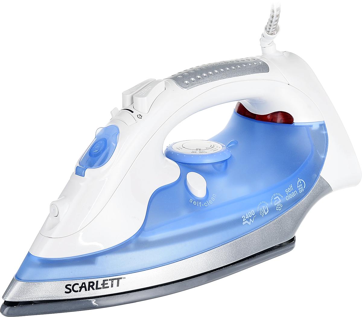Scarlett SC-SI30E02 утюгSC-SI30E02Утюг Scarlett SC-SI30E02 лучший выбор для активного использования. Он имеет паровые отверстия для качественного отпаривания вашей одежды. Специальная форма носика идеальна для проглаживания труднодоступных мест. С помощью системы вертикального отпаривания можно эффективно разгладить даже самые глубокие складки. Подошва имеет технологию многослойного покрытия SlideProGlide: - алюминий обеспечивает моментальный нагрев;- жаропрочная эмаль обеспечивает равномерное распределение тепла по подошве;- финальный слой на основе диоксида кремния придает поверхности гладкость, обеспечивая сверхлегкое скольжение, и повышенную твердость, защищая подошву от царапин.
