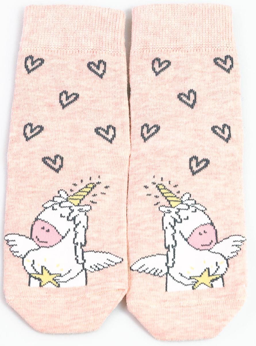 Носки детские Mark Formelle, цвет: розовый меланж. 400K-582_B3-8400K. Размер 25/27400K-582_B3-8400K
