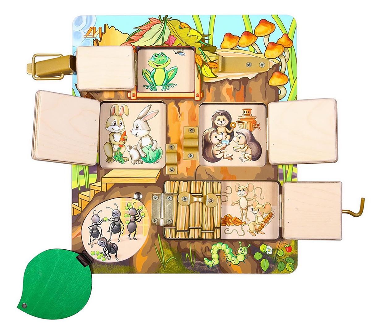 Деревянные игрушки Бизиборд Теремок деревянные игрушки wonderworld столярная мастерская для малышей