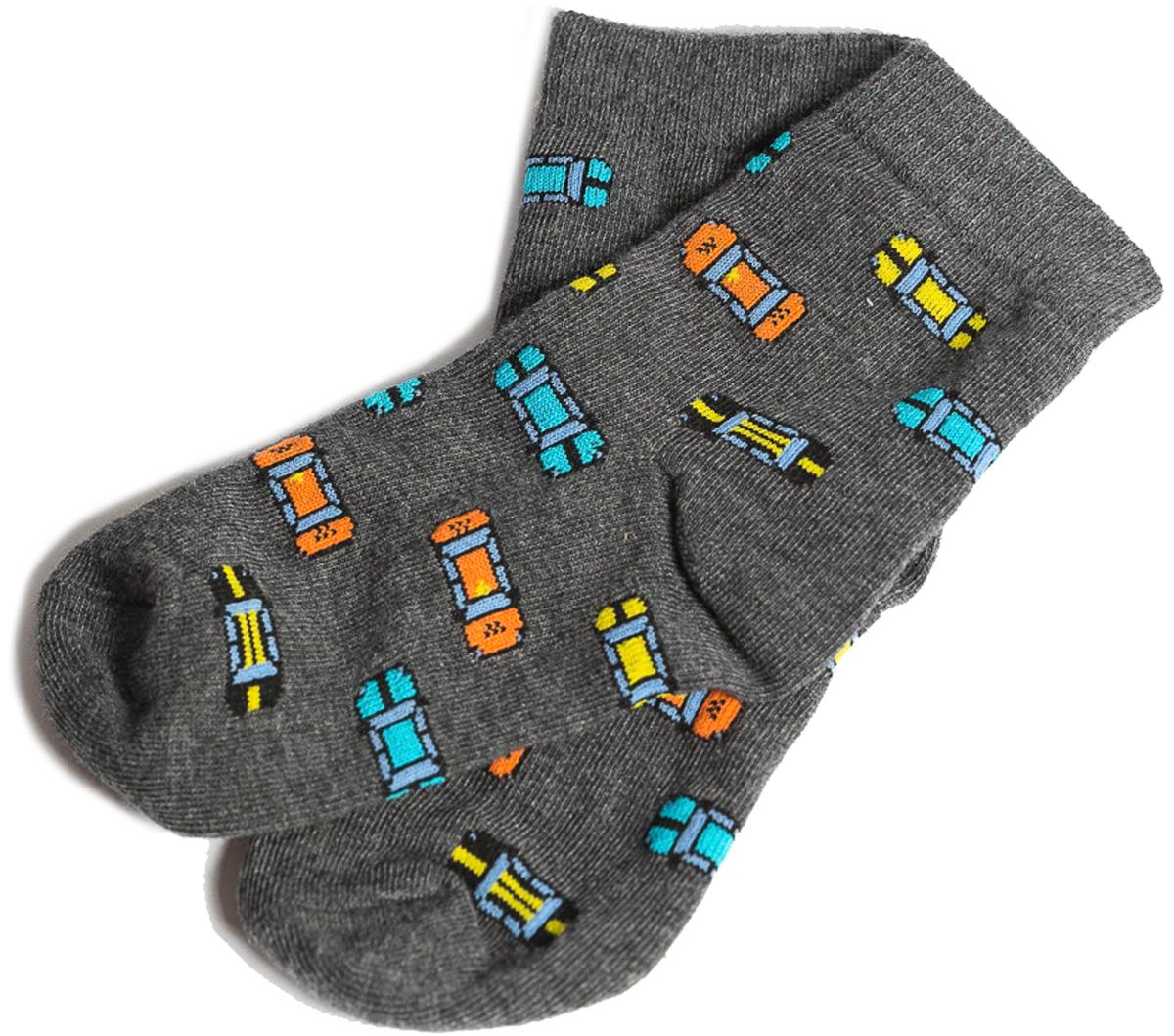 Носки детские Mark Formelle, цвет: темно-серый меланж. 400K-534_B3-8400K. Размер 28/30400K-534_B3-8400K
