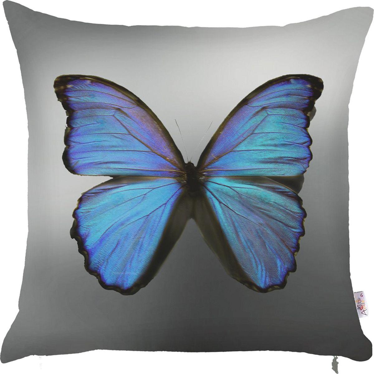 Чехол для декоративной подушки Apolena Blue butterfly, 43 х 43 смP702-7970/1