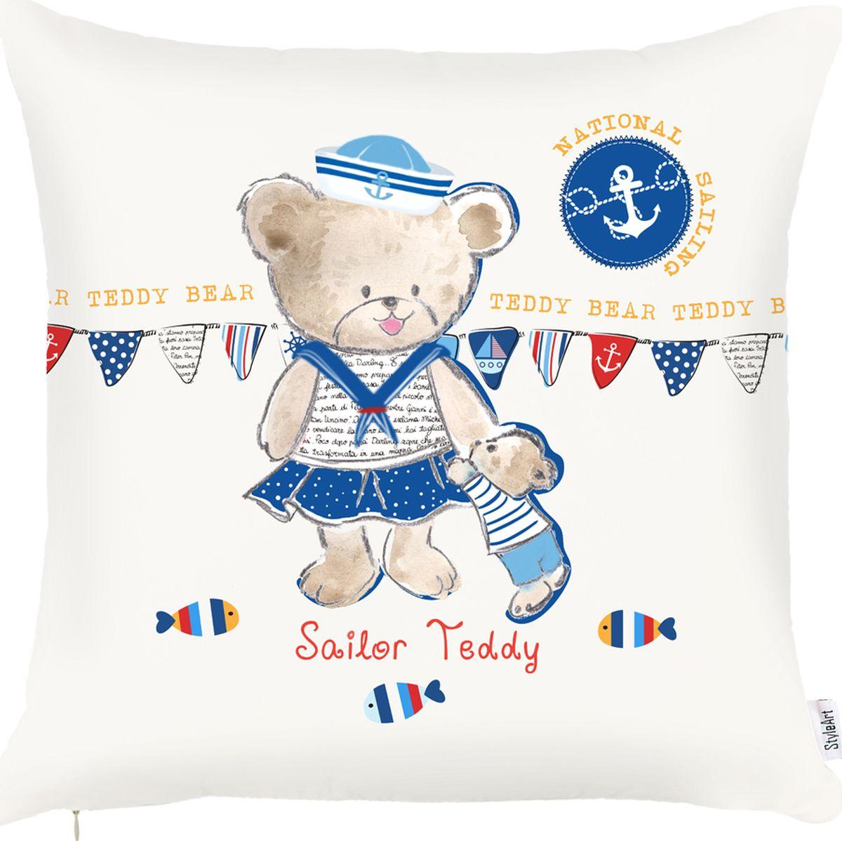 Чехол для декоративной подушки Apolena Мишки Teddy, 43 х 43 см. P702-8807/1P702-8807/1