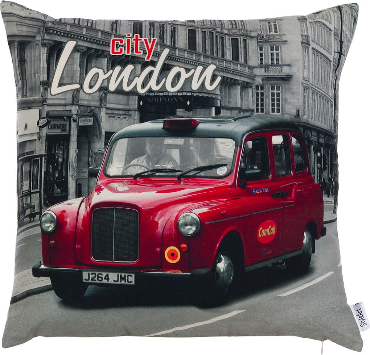 Чехол для декоративной подушки StyleArt Лондон, 45 х 45 смP702-9840/4Декоративные чехлы для подушек с рисунком из новой коллекции StyleArt изготовлены из микрофибры.Дизайн чехла позволяет использовать его как вклассических, так и в современных интерьерах.