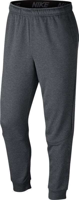 Брюки спортивные мужские Nike Dry Training Pants, цвет: темно-серый. 920796-071. Размер S (44/46)920796-071Мужские брюки для тренинга Nike Dry созданы для скорости и концентрации. Модель можно надеть поверх тайтсов или отдельно. Облегающий крой и невероятно мягкий флис с влагоотводящей технологией обеспечивают полный комфорт. Ткань Nike Dry отводит влагу и обеспечивает комфорт. Невероятно мягкий флис надежно защищает от холода без утяжеления. Зауженные к лодыжкам штанины сидят свободно на уровне бедер. Боковые карманы для хранения мелочей. Принт Nike в нижней части левой штанины.