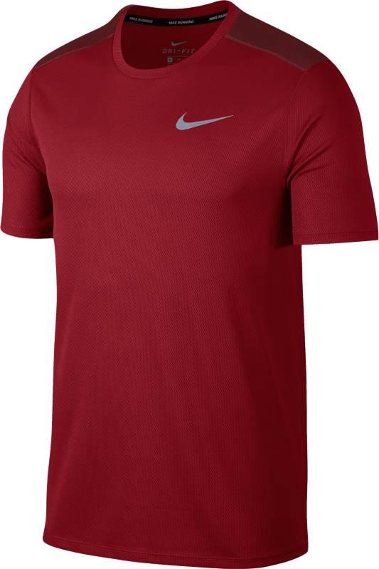 Футболка мужская Nike BRTHE Run Top SS, цвет: бордовый. 904634-687. Размер M (46/48)904634-687