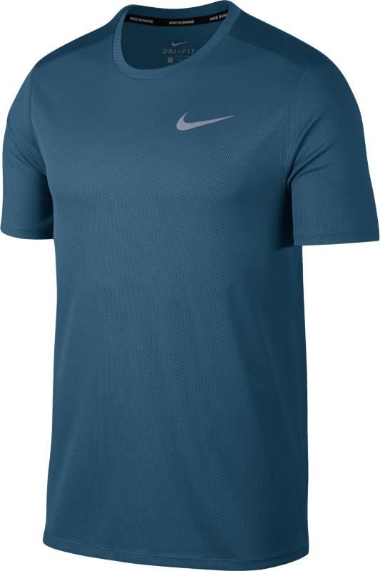 Футболка мужская Nike BRTHE Run Top SS, цвет: синий. 904634-474. Размер XL (52/54)904634-474
