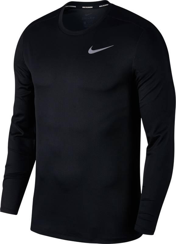Лонгслив мужской Nike BRTHE Run Top LS, цвет: черный. 904483-010. Размер L (50/52) свитшот мужской nike nike цвет голубой