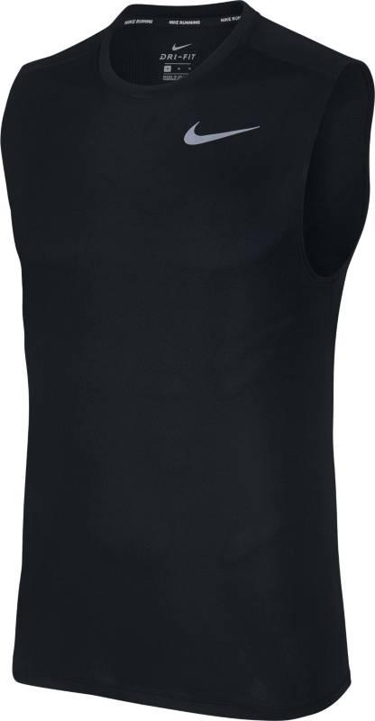 Майка мужская Nike BRTHE Run Top SLV, цвет: черный. 904481-010. Размер XXL (54/56)