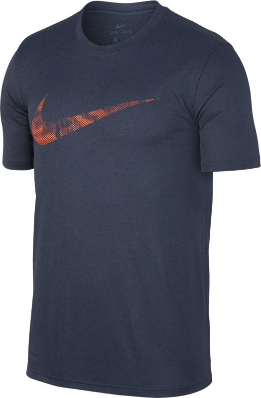 Футболка мужская Nike Dry Tee Leg Camo Logo, цвет: темно-синий. 890170-471. Размер  (50/52)