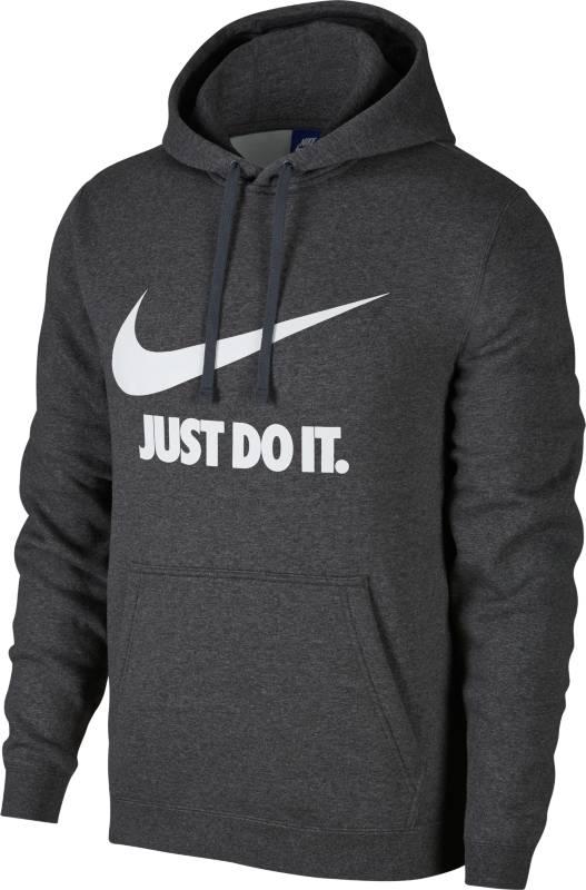 Купить Толстовка мужская Nike NSW Hoodie PO JDI, цвет: серый. 886496-071. Размер S (44/46)