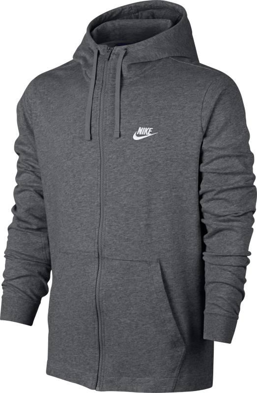Толстовка мужская Nike NSW Hoodie FZ JSY Club, цвет: серый. 861754-071. Размер M (46/48)