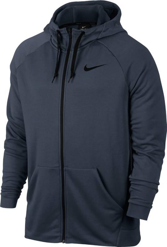 Толстовка мужская Nike Dry Hoodie FZ Fleece, цвет: темно-синий. 860465-471. Размер L (50/52)