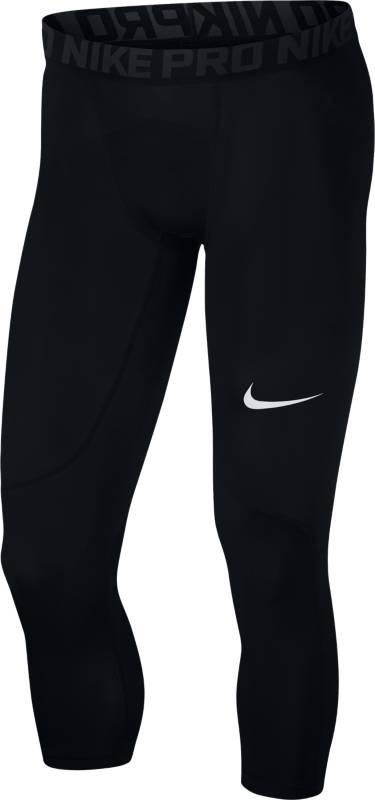Тайтсы мужские Nike NP TGHT 3QT, цвет: черный. 838055-010. Размер XL (52/54) тайтсы nike тайтсы w nk pwr tght racer cool