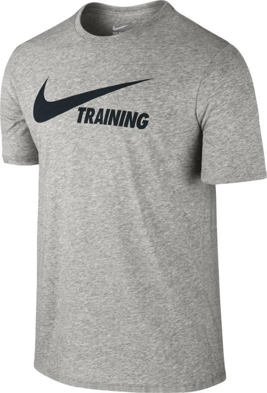Футболка мужская Nike Training Swoosh Tee, цвет: серый. 777358-063. Размер XXL (54/56) футболка мужская mitre цвет желтый tt29019 размер xxl 54 56