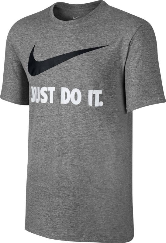 Футболка мужская Nike New Just Do It Swoosh, цвет: серый. 707360-067. Размер M (46/48)707360-067