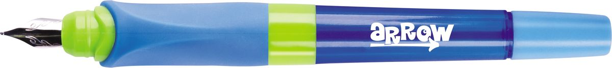 Berlingo Ручка перьевая Arrow со сменным картриджем цвет голубой247666_голубойЯркая перьевая ручка в пластиковом корпусе имеет эргономичный мягкий трехгранный грип. Он гарантирует комфортный захват и удобство использования ручки детьми. Иридиевый наконечник обеспечивает мягкое, ровное письмо. Прозрачные детали корпуса позволяют контролировать расход чернил.