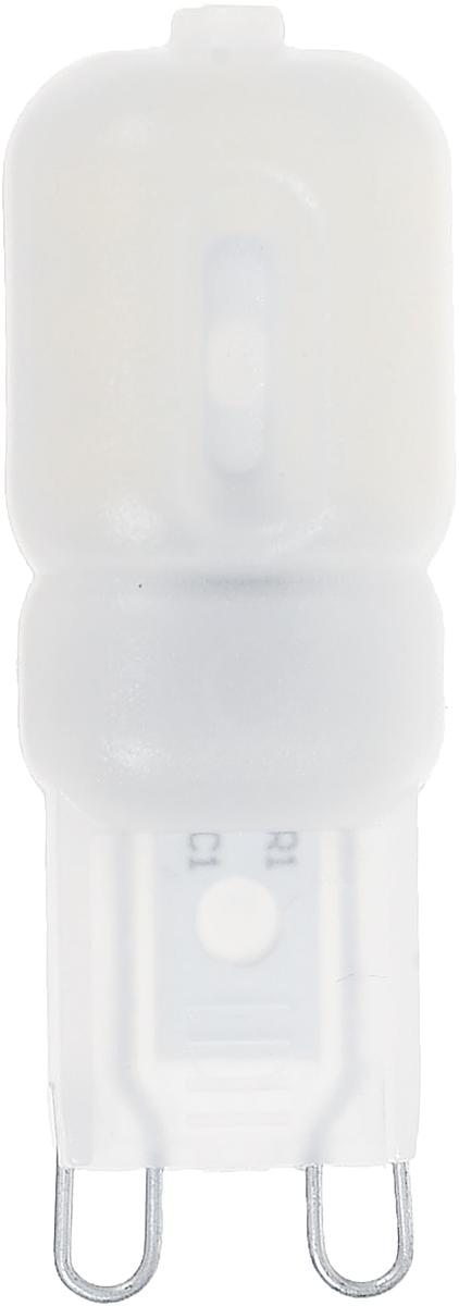 Светодиодная лампа Smartbuy G9 - энергосберегающая лампа, замена капсульной галогенной лампе G9. Сочетает в себе компактный размер и особую яркость.  В светодиодных лампах серии G9 применяются высокоэффективные светодиоды, что обеспечивает высокую надежность и эффективность источников света до 80 лм/Вт. При этом коэффициент цветопередачи обеспечивается на уровне Ra>80.  Индекс цветопередачи: RA>80.  Частота: 50 Гц.  Напряжение: 220-240 В.  Коэффициент мощности: 0,06.
