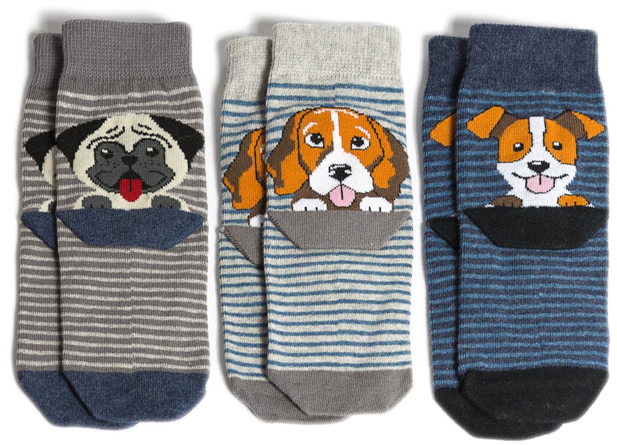 Носки детские Mark Formelle, цвет: серый, 3 пары. 400A-557_B4-6400A. Размер 34/36400A-557_B4-6400A