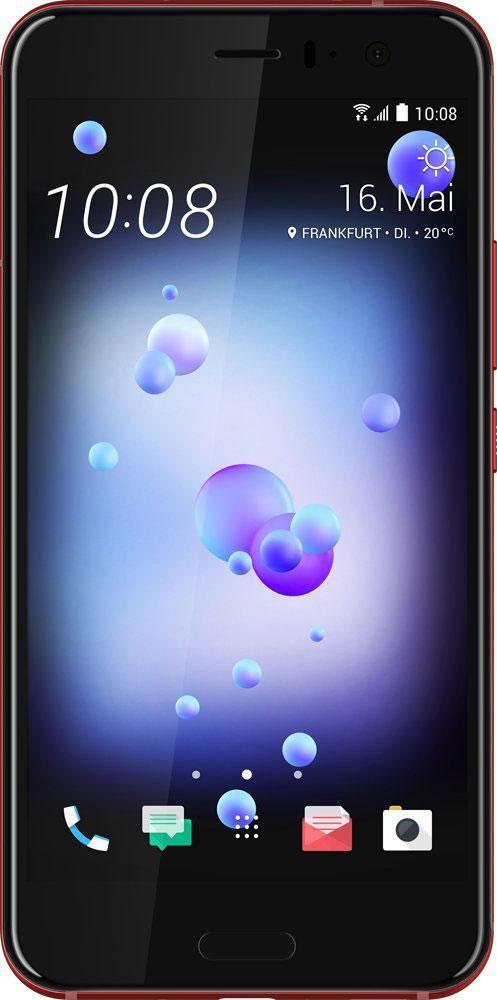 HTC U11 64GB, Solar Red99HAMB118-00Стеклянное покрытие с потрясающим переливающимся дизайном, камера с новым сверхбыстрым автофокусомUltraSpeed Autofocus от HTC, получившая одну из самых высоких в индустрии оценок DxOMarksi, самое чистоедоступное на рынке звучание с системой активного подавления внешних шумов, удивительно красивый корпусс защитой от воды и брызг - все это HTC U11.Впечатляющая стеклянная поверхность с переливающимся дизайном создана с применением технологиимногослойного покрытия с эффектом преломления света. В ходе производства в стекло задней поверхностикорпуса устройства на разную глубину вводятся минералы с различной степенью переотражения света.Именно так удается добиться поразительно насыщенных цветов, которые получаются преломлениемокружающего света в зависимости от положения корпуса смартфона.Для создания нового цельного изогнутого корпуса HTC U11 используется особый процесс формовки стекла сприменением экстремального давления и высокой температуры. Это непростая задача. В результате удалосьсоздать устройство с симметричной конструкцией по всем трем осям. Неважно держишь ли ты его в правой илилевой руке, вертикально или горизонтально. Изогнутое 3D стекло на фронтальной и задней поверхностяхкорпуса смартфона делает конструкцию не только визуально привлекательной, но и удобной в использовании.Экран HTC U11 с диагональю 5.5 выполнен из 3D стекла и специально разработан для передачи насыщенной,четкой картинки. Лучший на сегодняшний момент экран от HTC и естественная цветопередача производятяркое и неискажённое впечатление. Тебе не придётся привыкать к обрезанным изображениям или артефактамцвета по краям экрана, как это часто происходит в случае устройств с изогнутым экраном.Функция Edge Sense значительно расширяет возможности смартфона. Ты сможешь настроить доступ кширокому набору функций и приложений. Одним нажатием открыть Facebook, Twitter или Pinterest. Или вызватьмощного голосового помощника Google Ассистент! Слегка сожмите корпус HTC U11, и 