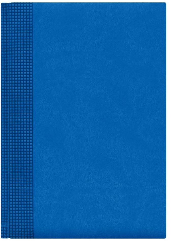 Nazarenogabrielli Ежедневник недатированный Velvet цвет голубой XX05451220-350-ITXX05451220-350-ITГладкий, матовый материал с основой под нубук. Общий цветовой фон ровный, слегка проступает мельчайший «кожаный» рисунок на полтона светлее. Обложка декорирована вертикальным рельефным орнаментом в форме шашечек.