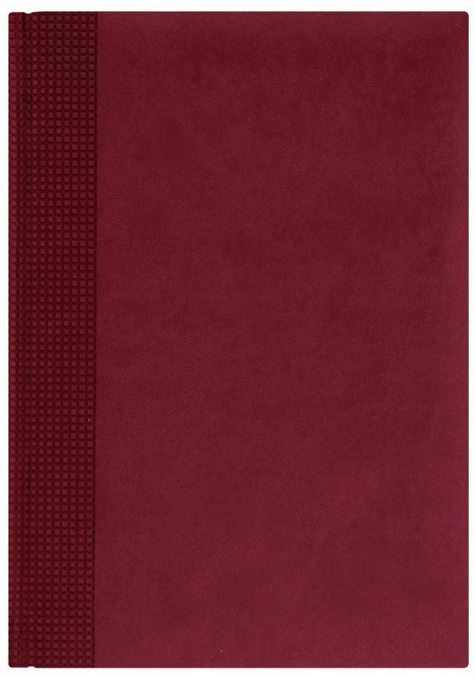 Nazarenogabrielli Ежедневник недатированный Velvet цвет бордовыйXX05451220-421Гладкий, матовый материал с основой под нубук. Общий цветовой фон ровный, слегка проступает мельчайший «кожаный» рисунок на полтона светлее. Обложка декорирована вертикальным рельефным орнаментом в форме шашечек.