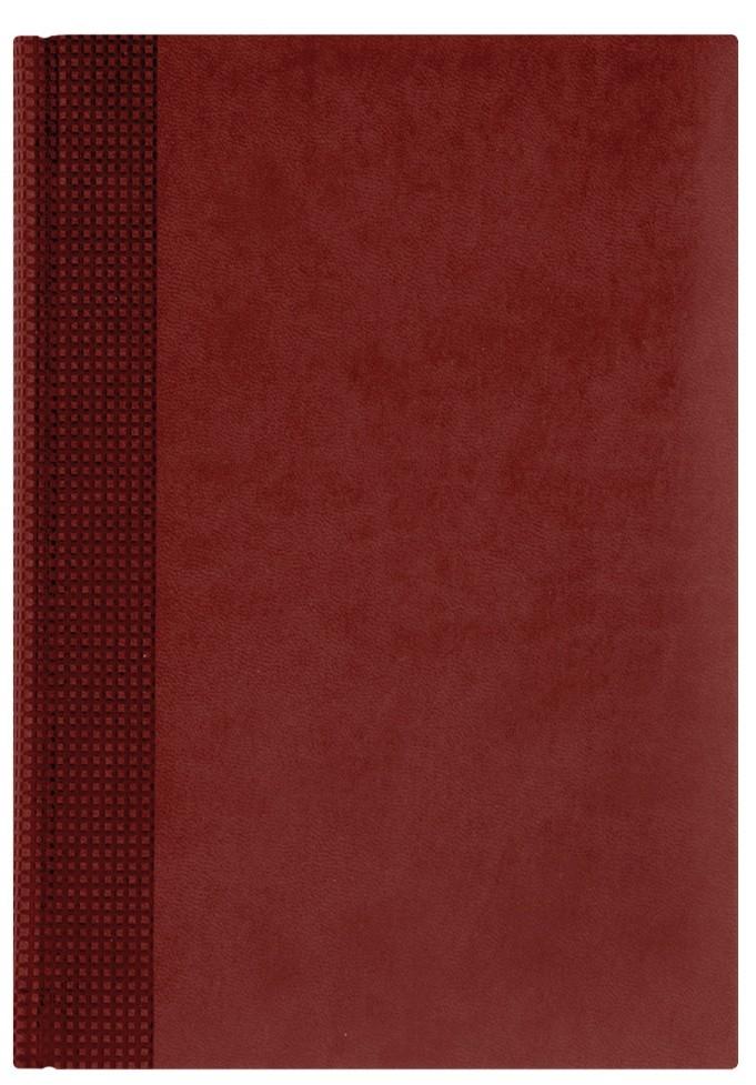 Nazarenogabrielli Ежедневник недатированный Velvet цвет красный XX05451220-100XX05451220-100Гладкий, матовый материал с основой под нубук. Общий цветовой фон ровный, слегка проступает мельчайший «кожаный» рисунок на полтона светлее. Обложка декорирована вертикальным рельефным орнаментом в форме шашечек.