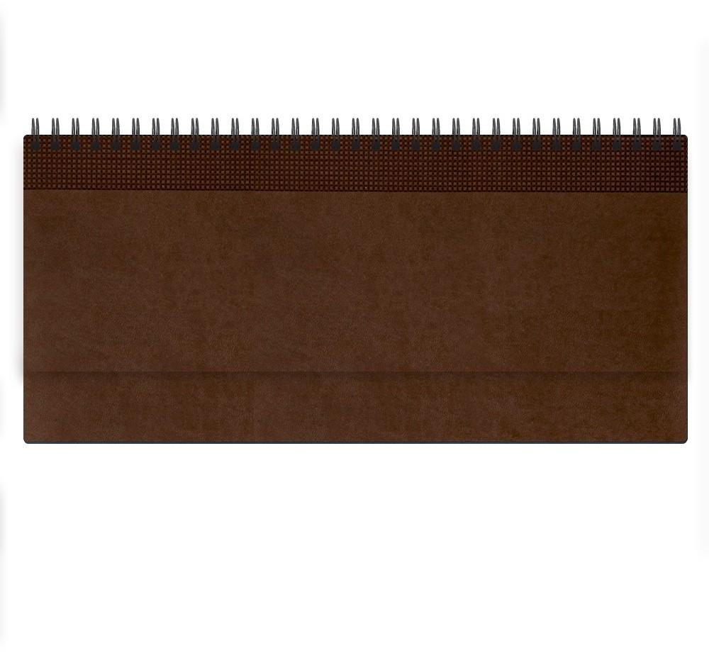 Nazarenogabrielli Планинг недатированный Velvet цвет коричневый XX05496810-121XX05496810-121Гладкий, матовый материал с основой под нубук. Общий цветовой фон ровный, слегка проступает мельчайший «кожаный» рисунок на полтона светлее. Обложка декорирована вертикальным рельефным орнаментом в форме шашечек.