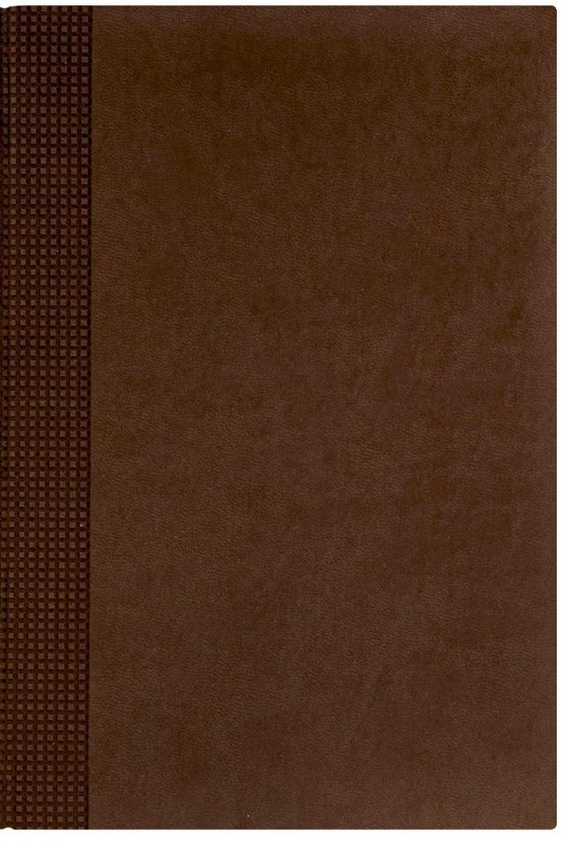 Nazarenogabrielli Ежедневник недатированный Velvet цвет коричневый XX05451220-120-ITXX05451220-120-ITГладкий, матовый материал с основой под нубук. Общий цветовой фон ровный, слегка проступает мельчайший «кожаный» рисунок на полтона светлее. Обложка декорирована вертикальным рельефным орнаментом в форме шашечек.
